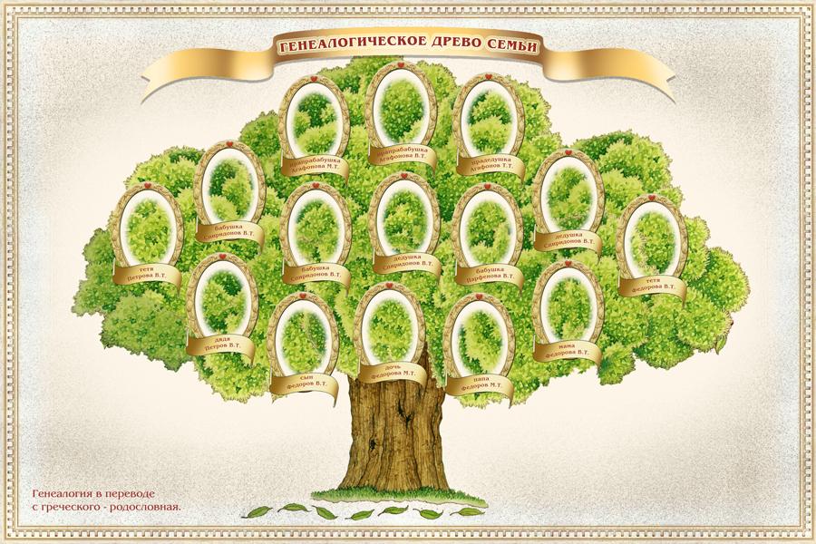 Как нарисовать родословное древо семьи своими руками